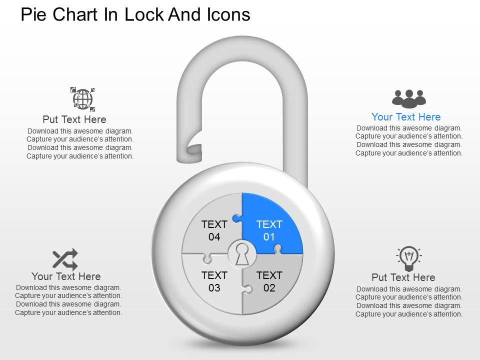kc_pie_chart_in_lock_and_icons_powerpoint_template_Slide01