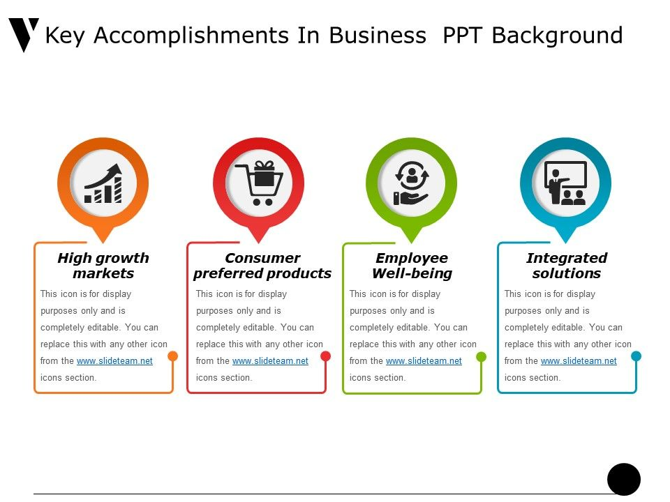 key accomplishments in business ppt background powerpoint