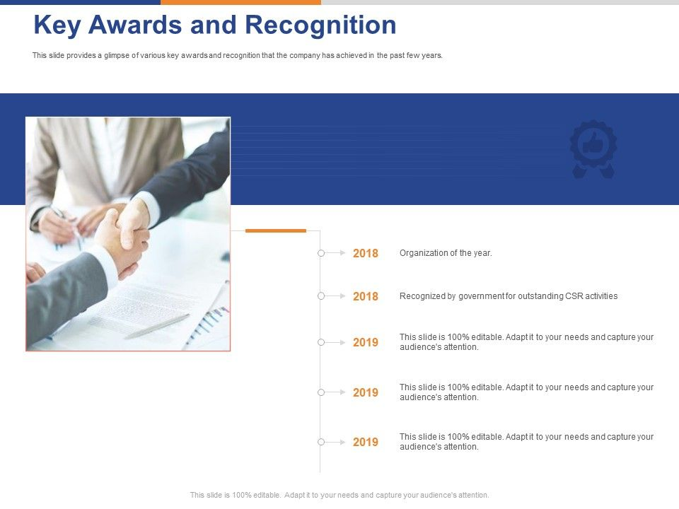 Key Awards And Recognition Ppt Powerpoint Presentation Infographics Graphics Design