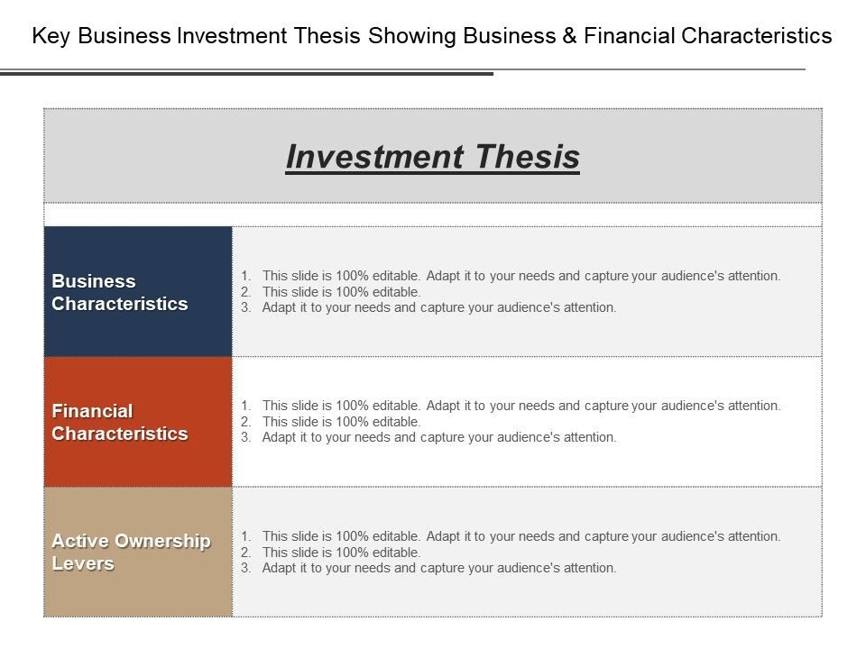 Key business investment thesis showing business and financial keybusinessinvestmentthesisshowingbusinessandfinancialcharacteristicsslide01 toneelgroepblik Gallery