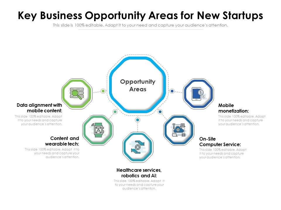 Key Business Opportunity Areas For New Startups