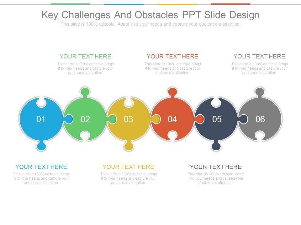 key challenges and obstacles ppt slide design