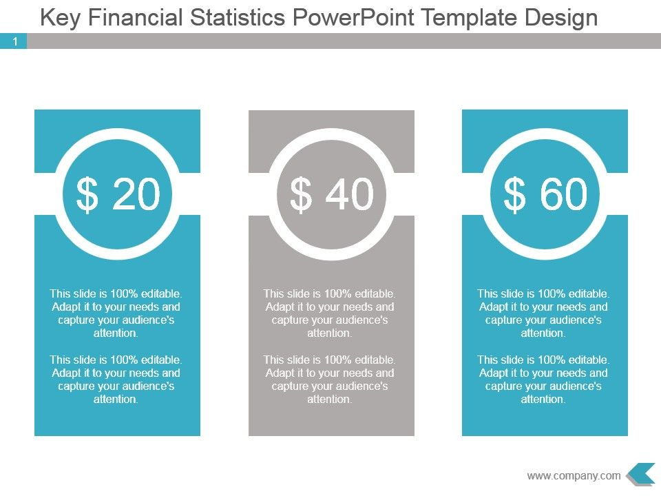 key financial statistics powerpoint template design | powerpoint, Modern powerpoint
