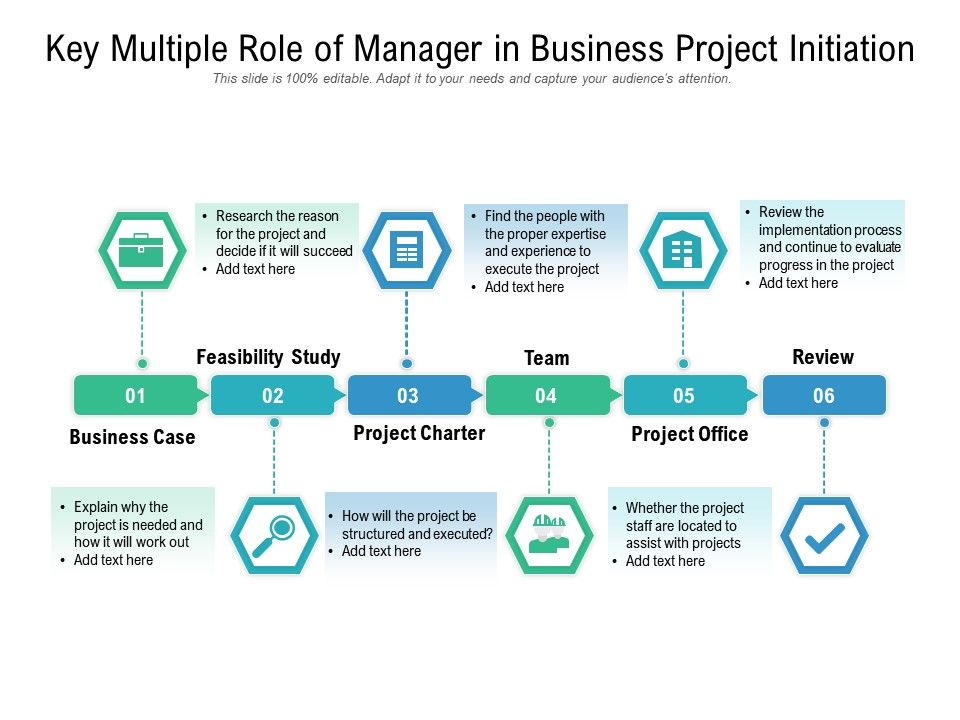 Key Multiple Role Of Manager In Business Project Initiation