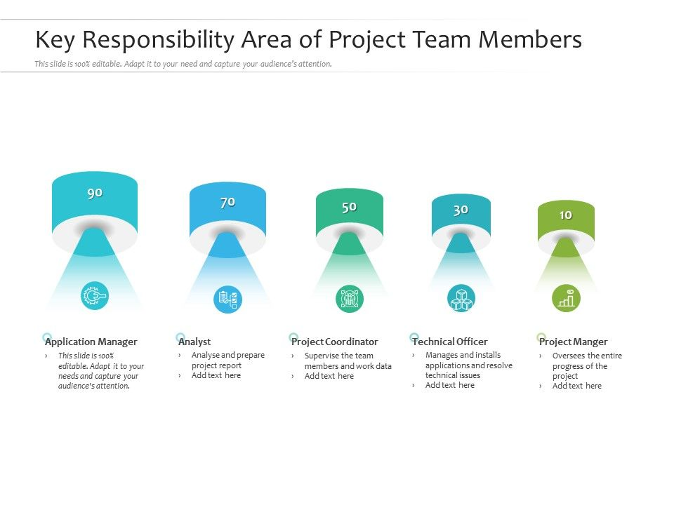 Key Responsibility Area Of Project Team Members