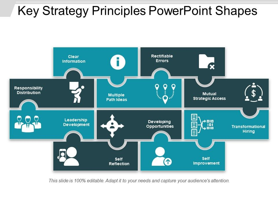 key_strategy_principles_powerpoint_shapes_Slide01
