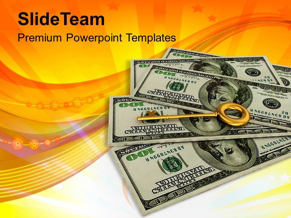 key_to_success_on_dollar_notes_success_powerpoint_templates_ppt_themes_and_graphics_Slide01