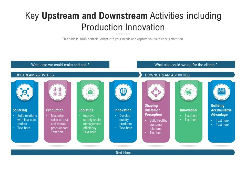 Key Upstream And Downstream Activities Including Production Innovation