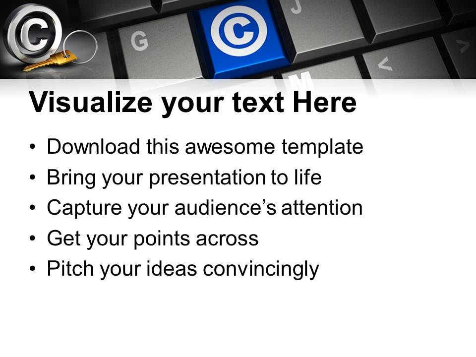 Keyboard With Copyright Symbol Powerpoint Templates Ppt Themes And