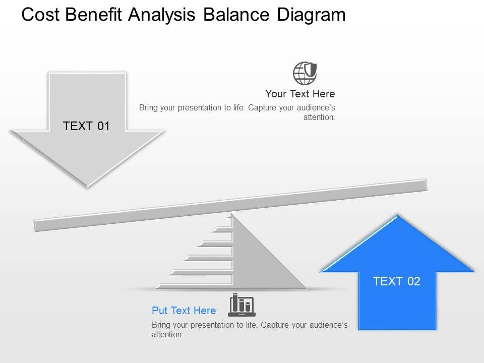 kh cost benefit analysis balance diagram powerpoint template, Modern powerpoint