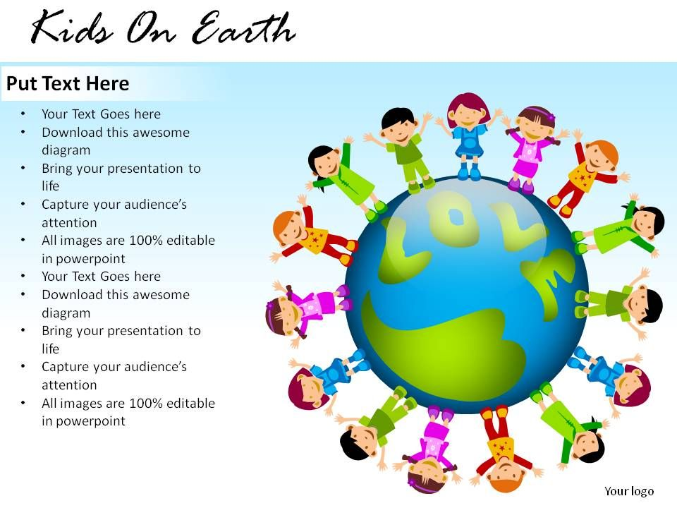 kids on earth powerpoint presentation slides powerpoint slides