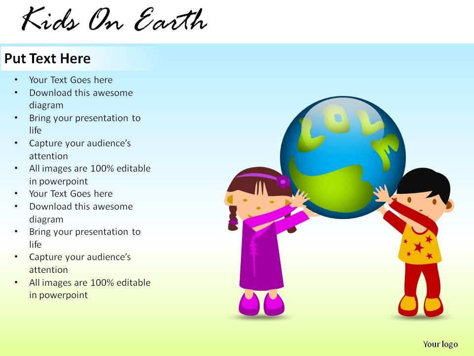 kids on earth powerpoint presentation slides powerpoint slides diagrams themes for ppt. Black Bedroom Furniture Sets. Home Design Ideas