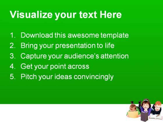 Book Powerpoint Template | Kids Reading Books Education Powerpoint Template 1110 Templates