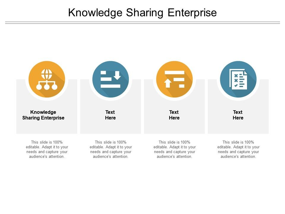 Knowledge Sharing Enterprise Ppt Powerpoint Presentation Inspiration Demonstration Cpb