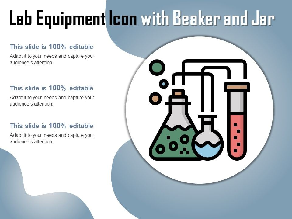 Lab Equipment Icon With Beaker And Jar