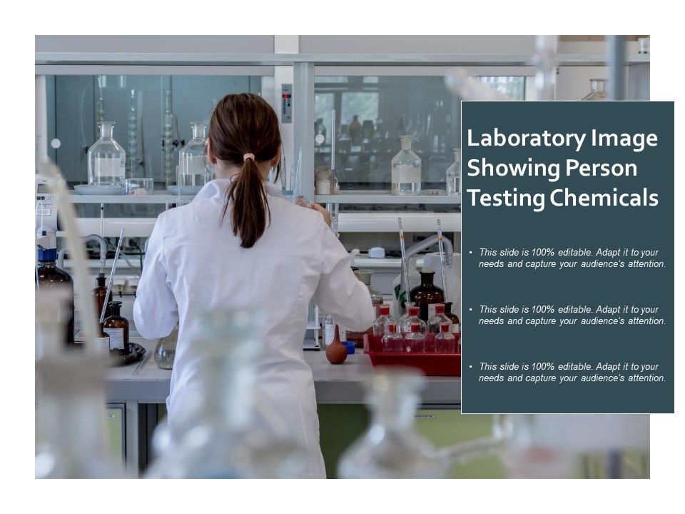 Laboratory Image Showing Person Testing Chemicals