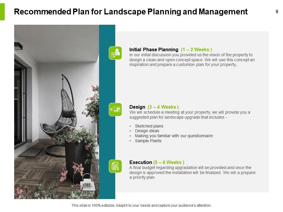 Landscape Planning And Management Proposal Powerpoint