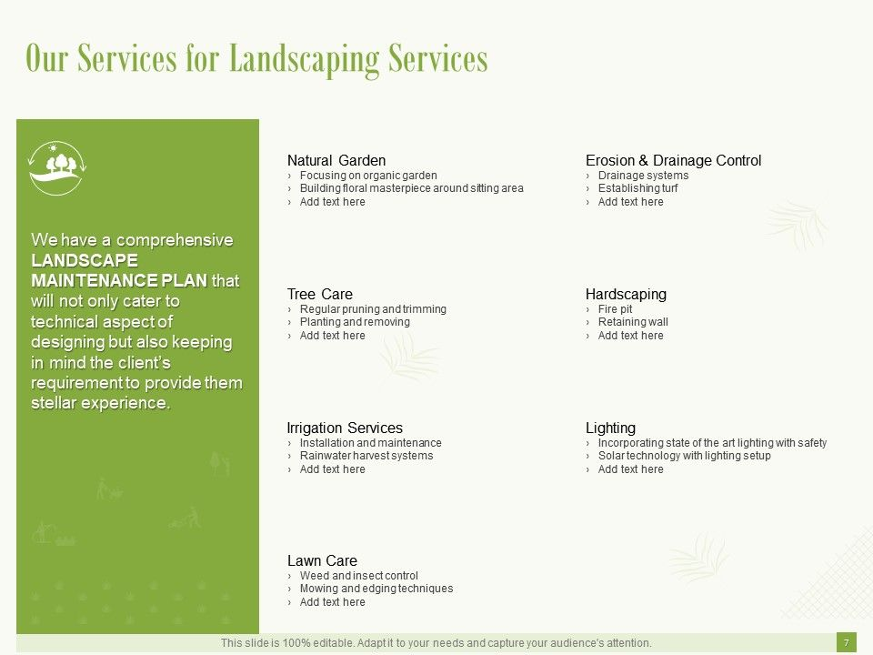 Landscaping Proposal Template Powerpoint Presentation Slides Powerpoint Shapes Powerpoint Slide Deck Template Presentation Visual Aids Slide Ppt