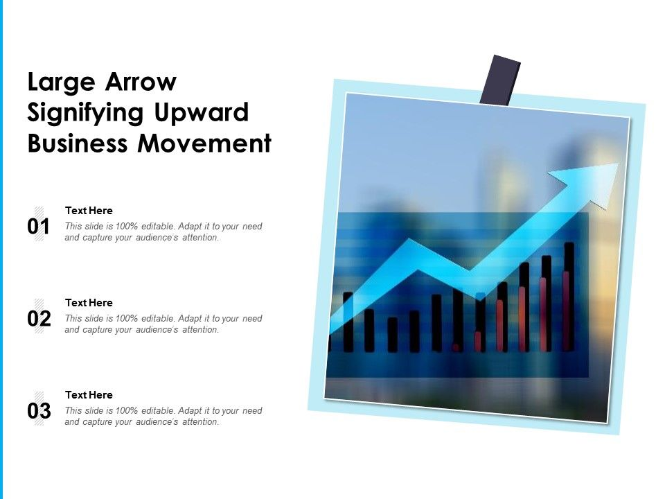 Large Arrow Signifying Upward Business Movement