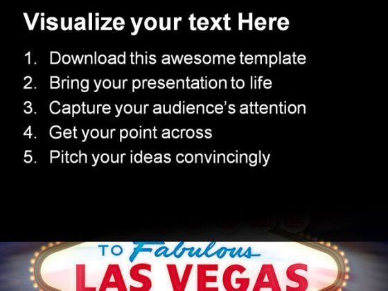 Las Vegas Sign Americana PowerPoint Templates And PowerPoint ...