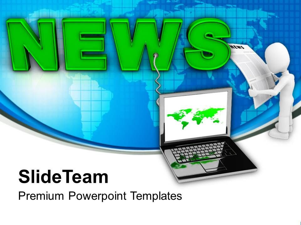 Latest News On Laptop Communication Powerpoint Templates Ppt Themes
