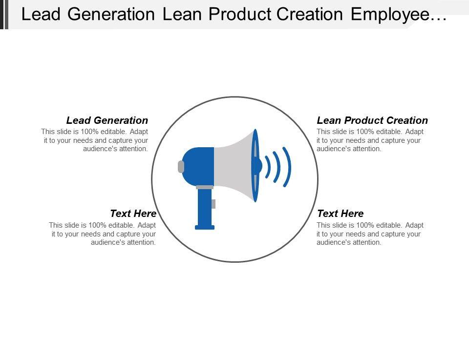 Lead Generation Lean Product Creation Employee Development