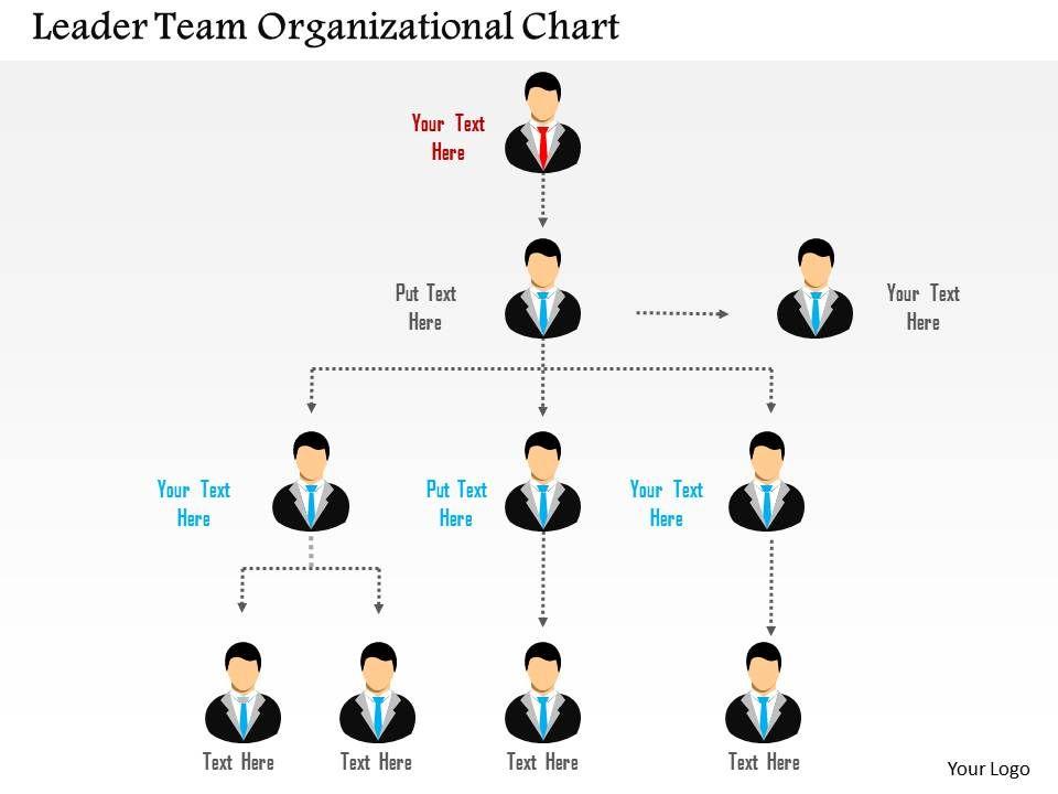 leader_team_organizational_chart_flat_powerpoint_design_Slide01
