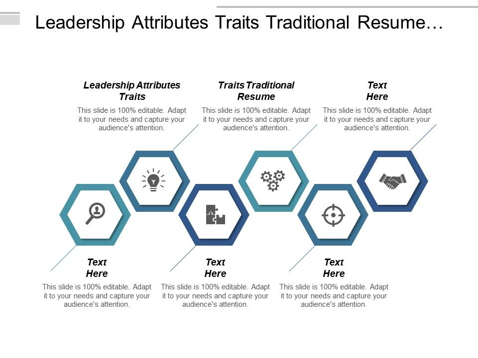 leadership attributes traits traditional resume template