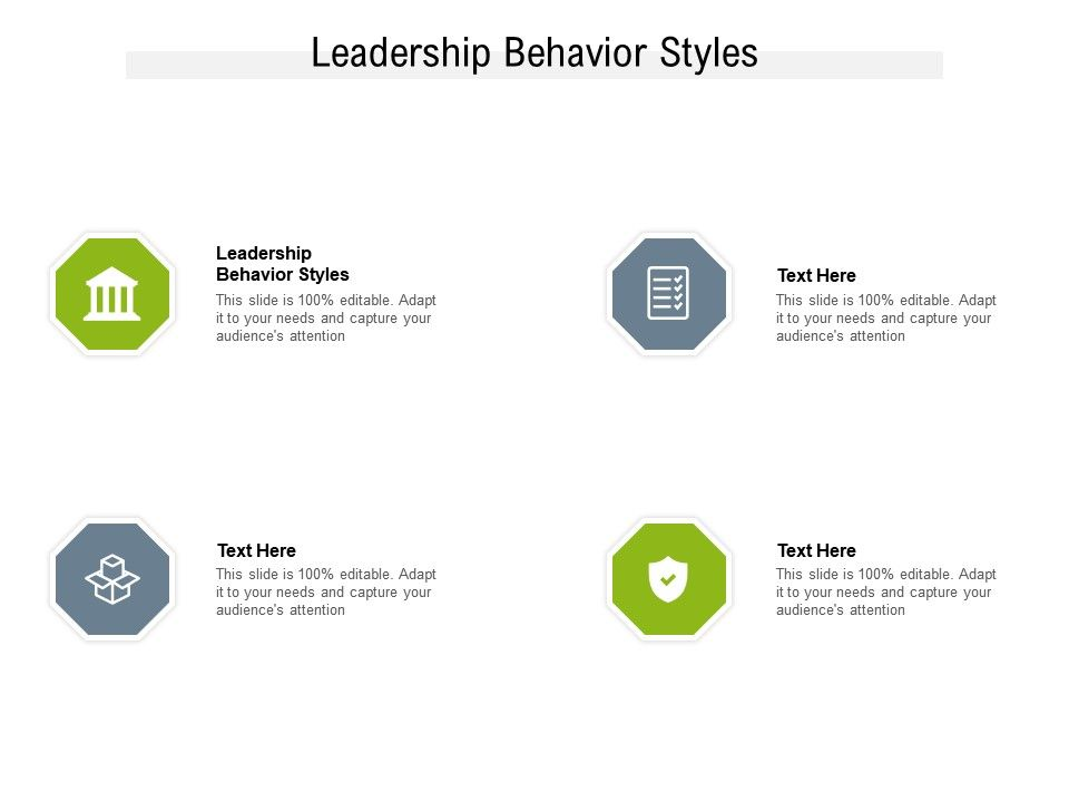 Leadership Behavior Styles Ppt Powerpoint Presentation Pictures Guidelines Cpb