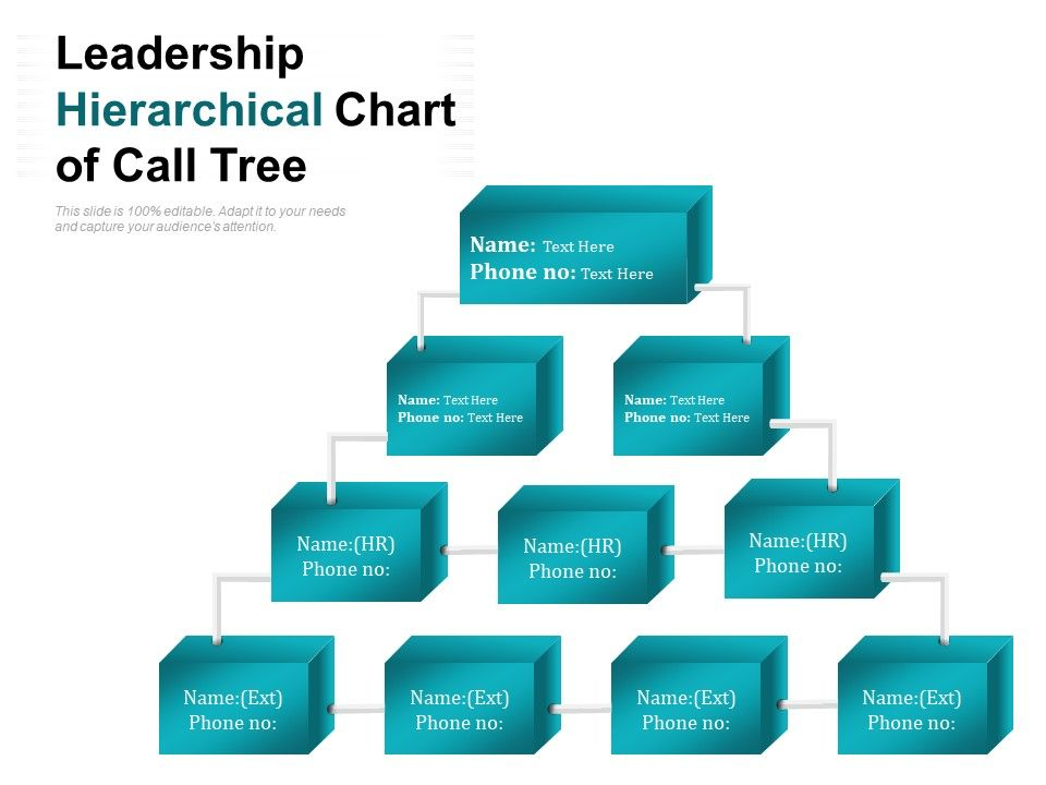 Leadership Hierarchical Chart Of Call Tree