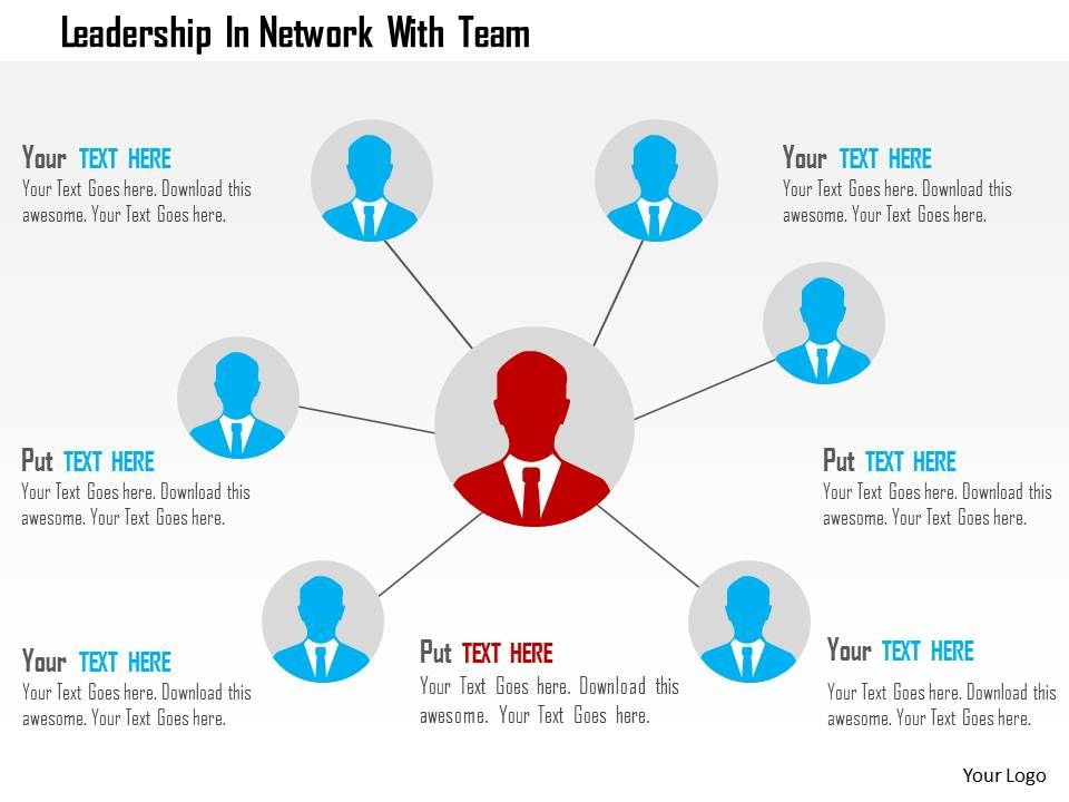 leadership_in_network_with_team_flat_powerpoint_design_Slide01