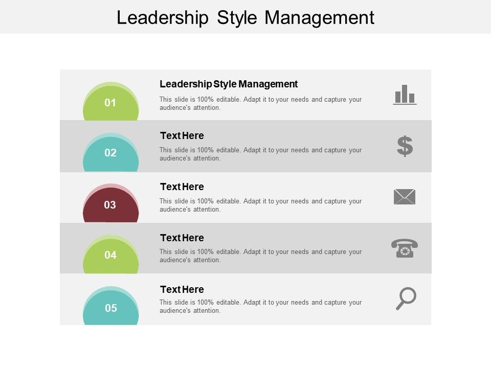 Leadership Style Management Ppt Powerpoint Presentation Ideas Show Cpb
