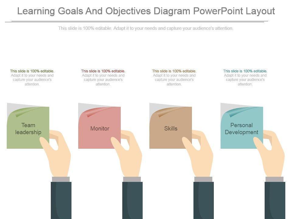 learning_goals_and_objectives_diagram_powerpoint_layout_Slide01