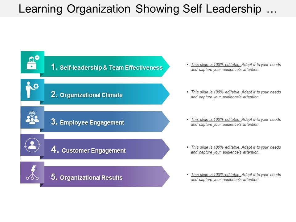 learning_organization_showing_self_leadership_organizational_climate_engagement_results_Slide01