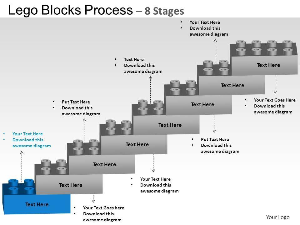 lego_blocks_flowchart_process_diagram_8_stages_powerpoint_slides_and_ppt_templates_0412_slide02 - Flowchart Blocks