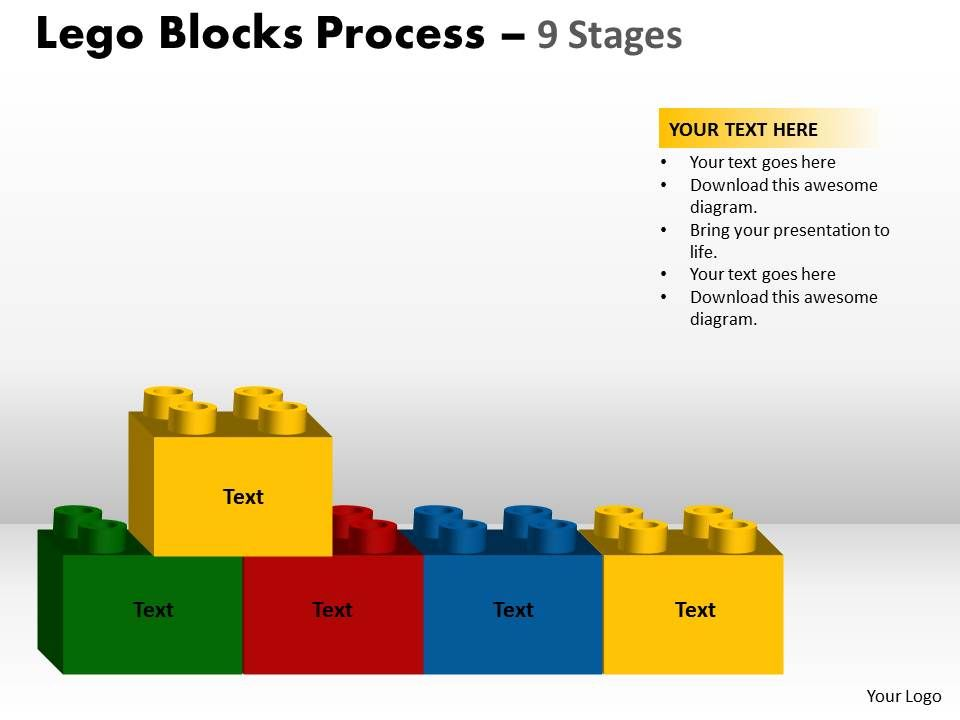 40528819 style variety 1 lego 9 piece powerpoint presentation diagram infographic slide. Black Bedroom Furniture Sets. Home Design Ideas