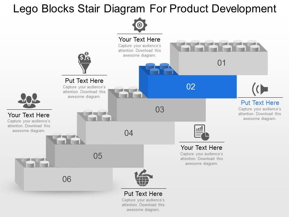Lego Blocks Stair Diagram For Product Development Powerpoint ...