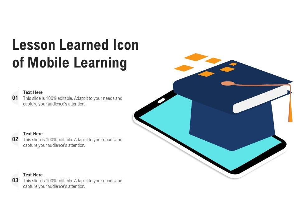 Lesson Learned Icon Of Mobile Learning