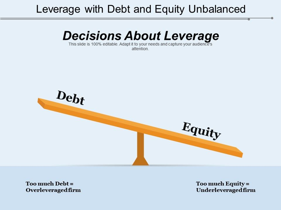 Leverage With Debt And Equity Unbalanced Presentation Powerpoint Diagrams Ppt Sample Presentations Ppt Infographics