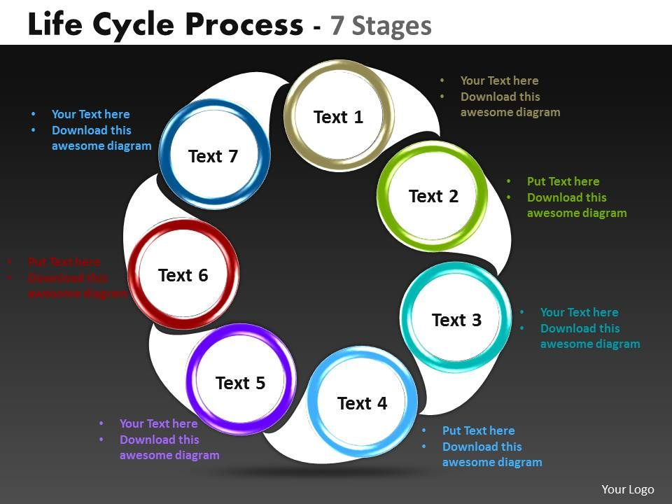 Life Cycle Diagrams Process 7 Stages 6