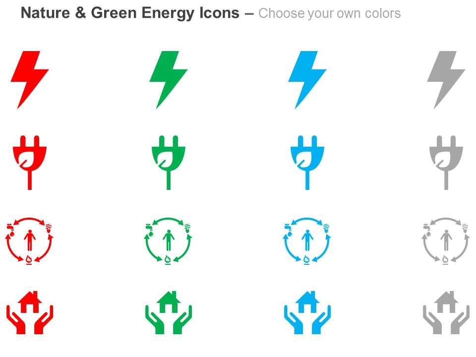 Lighting Green Plug Home Safety Power Circulation Ppt