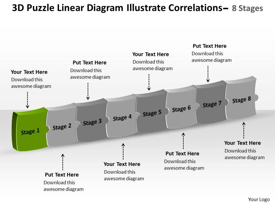 linear diagram illustrate correlations 8 stages process flow chart template  powerpoint templates | templates powerpoint slides | ppt presentation  backgrounds | backgrounds presentation themes  slideteam