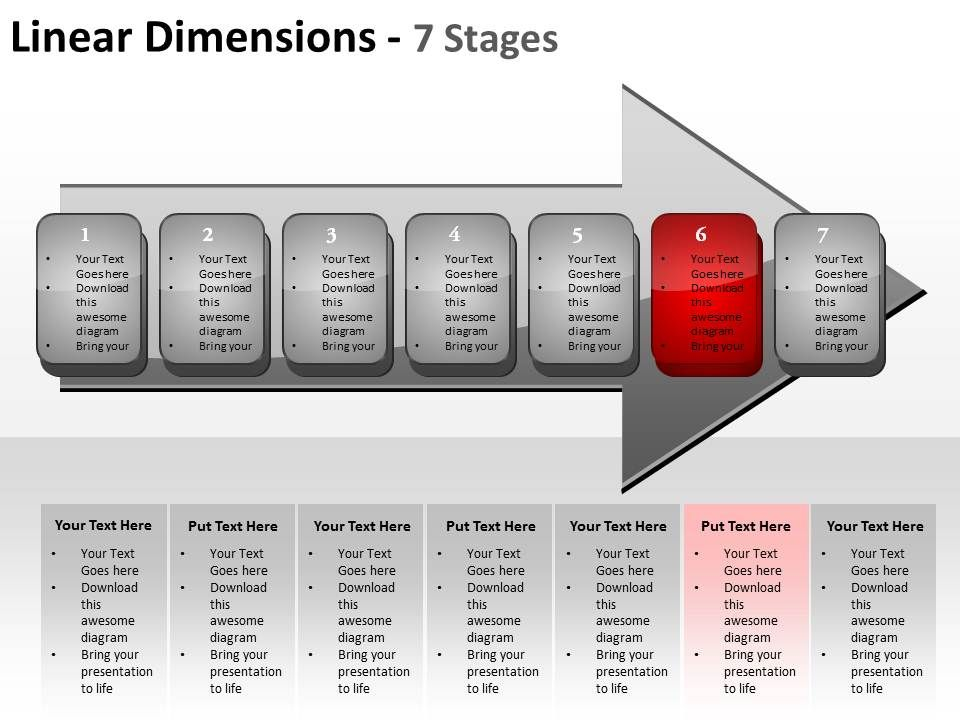 Linear dimensions 7 stages shown by arrows and text boxes inside lineardimensions7stagesshownbyarrowsandtextboxesinsidepowerpointtemplates0712slide07 toneelgroepblik Image collections