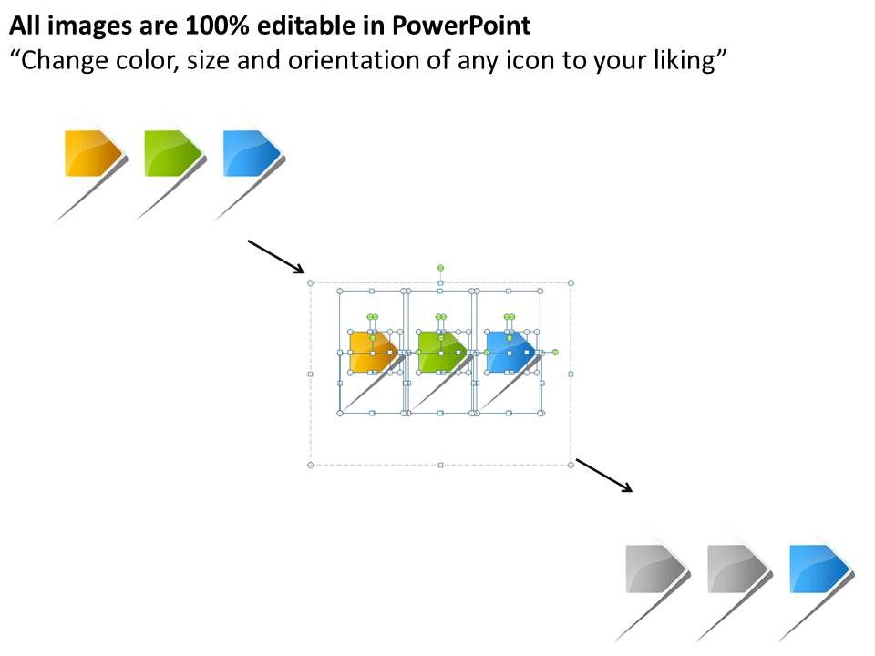 10 Stage Linear Arrow Diagram For Powerpoint Manual Guide