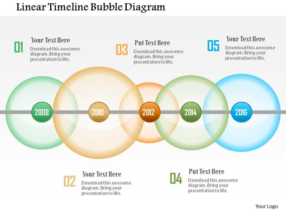 Linear Timeline Bubble Diagram Point Template Slide01 Slide02