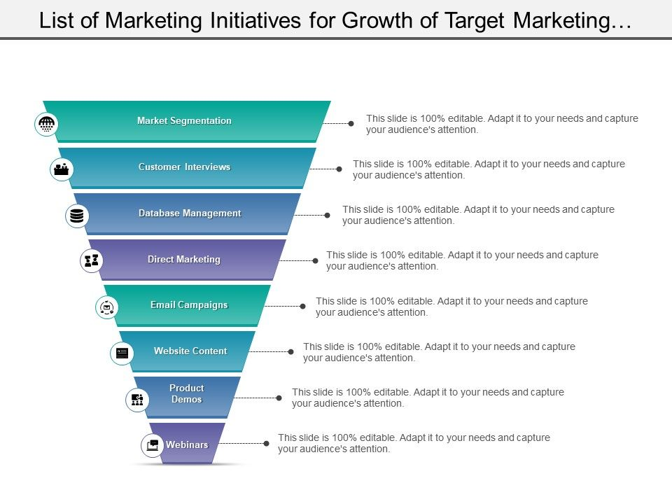 list_of_marketing_initiatives_for_growth_of_target_marketing_includes_market_segmentation_and_data_management_Slide01