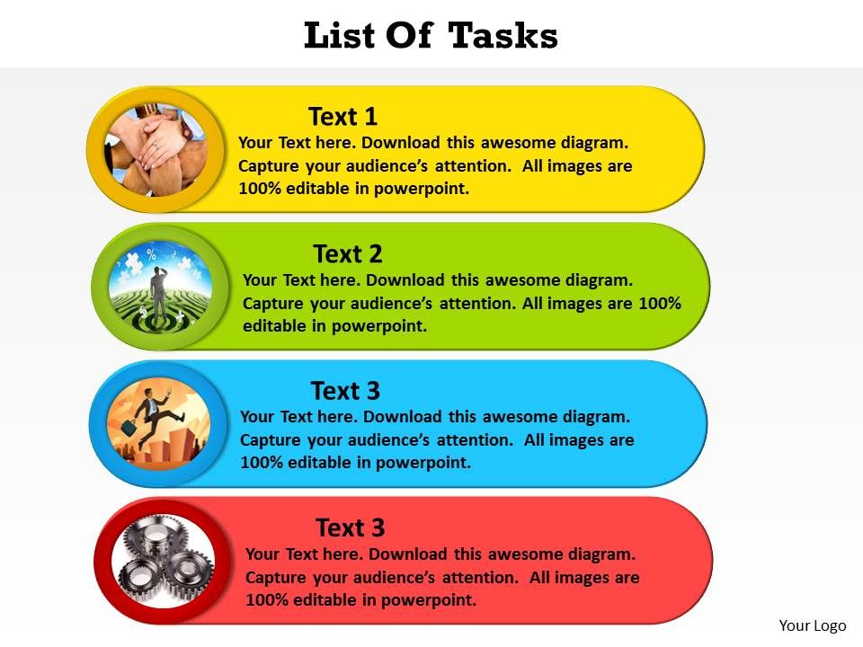 List of tasks with photos by the side powerpoint diagram templates listoftaskswithphotosbythesidepowerpointdiagramtemplatesgraphics712slide01 ccuart Choice Image