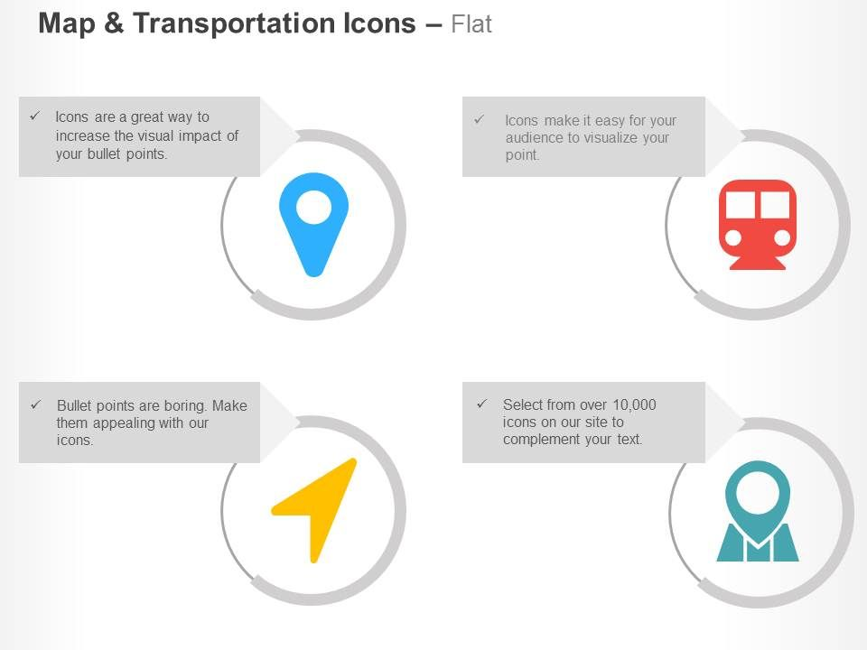 Location Arrow Map Marker Subway Places Optimizations Ppt Icons Graphics Slide01