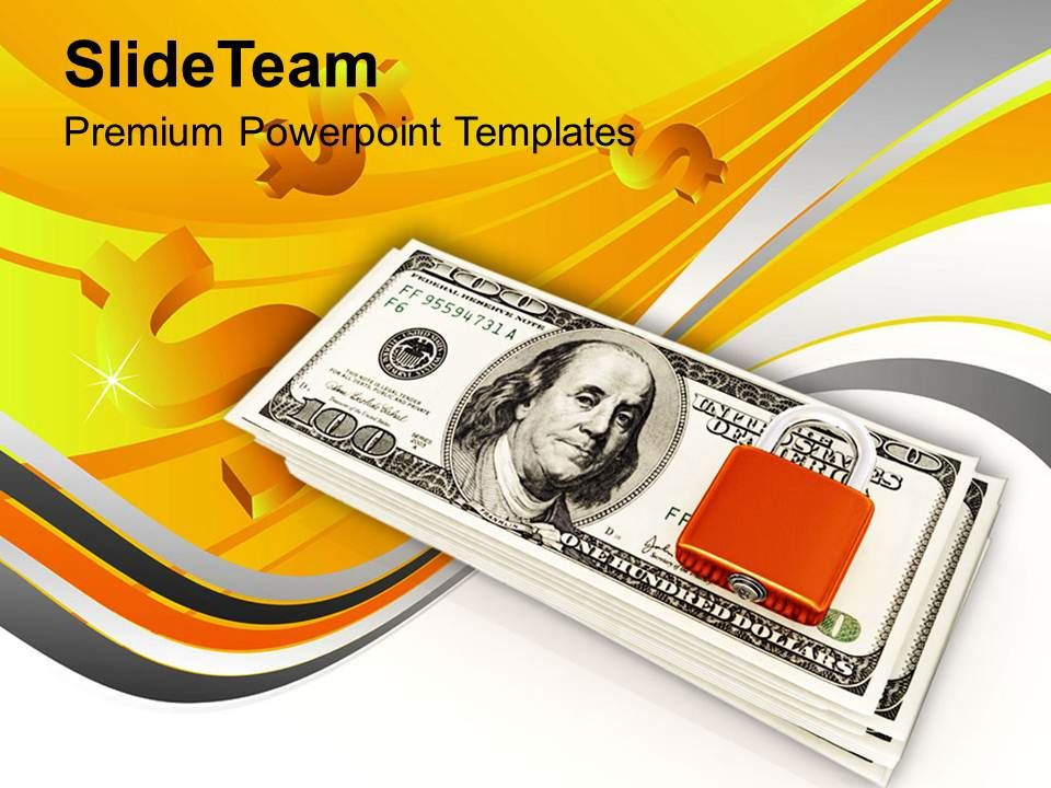 lock_and_stack_of_dollar_bills_money_powerpoint_templates_ppt_themes_and_graphics_0213_Slide01