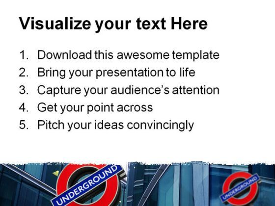 London Underground Travel PowerPoint Template 0910  Presentation Themes and Graphics Slide03